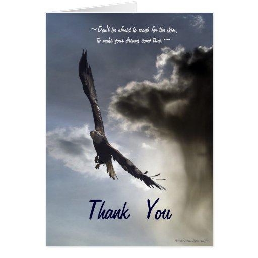Soaring American Bald Eagle Thank You Card