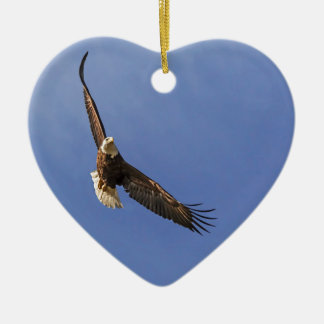 Soaring Bald Eagle Christmas Ornament
