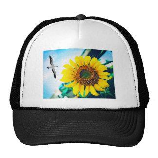 Soaring Bird Sunflower Cap