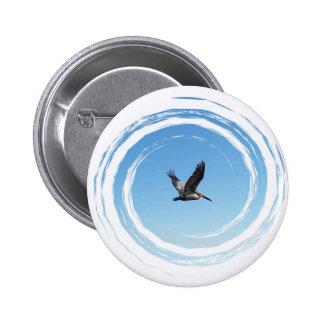 Soaring Brown Pelican 6 Cm Round Badge
