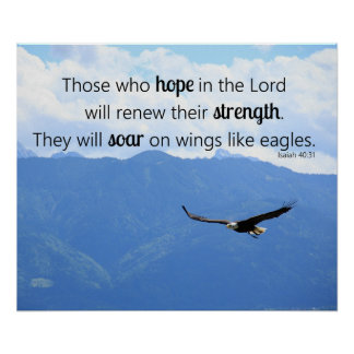 Soaring Eagle Christian Strength Isaiah 40:31 Poster