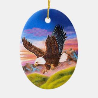 Soaring Eagle Oval Ornament
