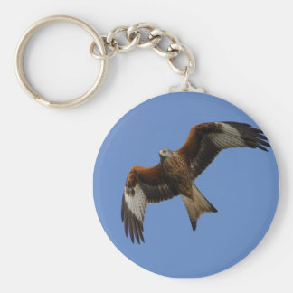 Soaring Red Kite Basic Round Button Key Ring