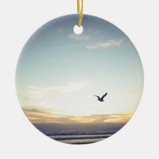 Soaring Seagull, 2016 - Round Ceramic Decoration