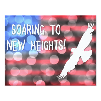 soaring to new heights 11 cm x 14 cm invitation card