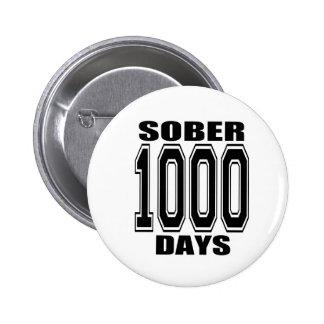 SOBER 1000 DAYS BLACK PINS