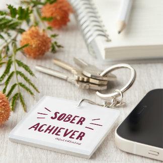 Sober Achiever Keychain