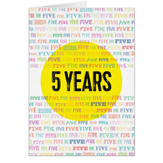 Sober Alcoholic Anniversary Card: 5 Years Greeting Card