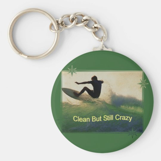 Sober And Crazy Basic Round Button Key Ring