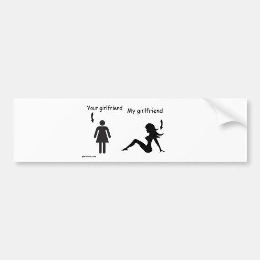sober and girlfriends bumper sticker