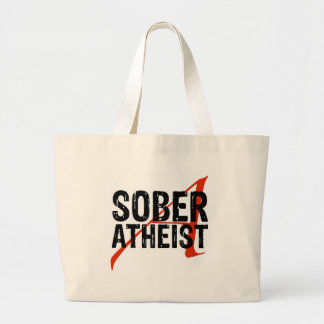 Sober Atheist Jumbo Tote Bag