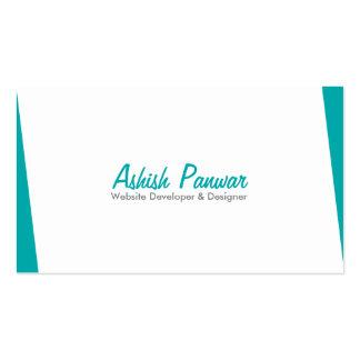 Sober Blue Edge Pack Of Standard Business Cards