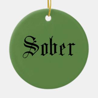 Sober Christmas Ornament, Green Christmas Ornament