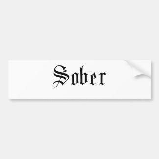 Sober, Gothic Print - Bumper Sticker