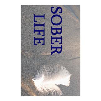 Sober life Feather Customised Stationery