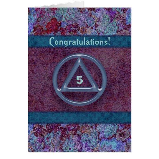 Sober Recovery Anniversary Congratulations Card