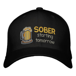 Sober Starting Tomorrow Embroidered Hats