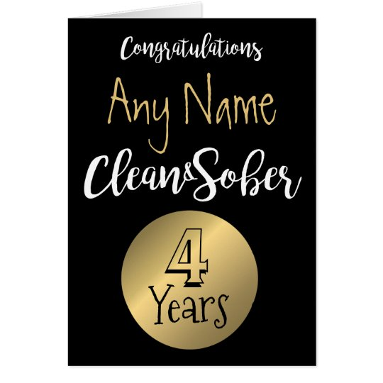 Sobriety card 12 step sober anniversary birthday