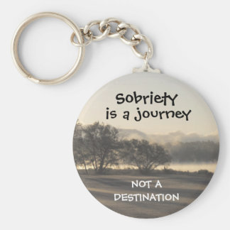 sobriety is a journey keychain 15