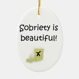 Sobriety is Beautiful! Christmas Ornament