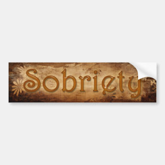 SOBRIETY Sober Recovery Bumper Sticker