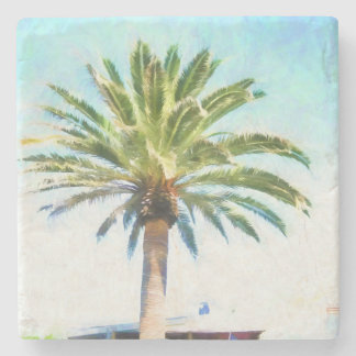 SoCal Palm Tree Stone Coaster