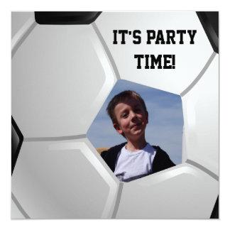 Soccer 13 Cm X 13 Cm Square Invitation Card