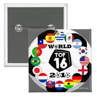 Soccer 16 Flags Button World Cup