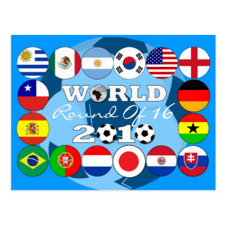 Soccer 16 Team Flags Postcard World Cup