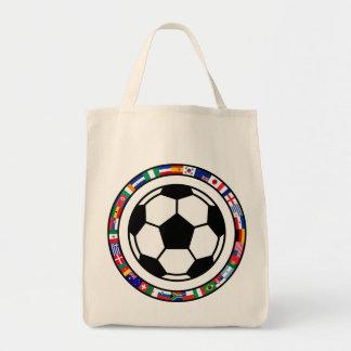 Soccer 2010 grocery tote bag