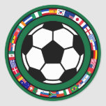 Soccer 2010 round stickers