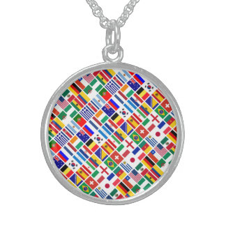 SOCCER 2014 ROUND PENDANT NECKLACE