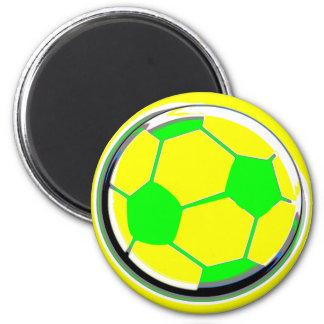 Soccer 6 Cm Round Magnet