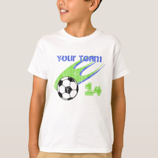 Soccer Action Customizable Team T-Shirt