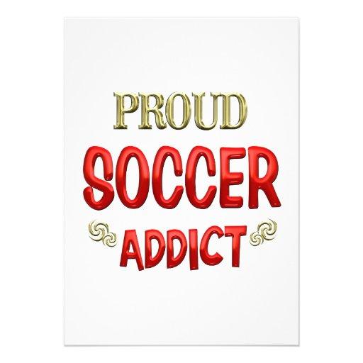 Soccer Addict Invitations