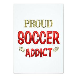 Soccer Addict Invitations