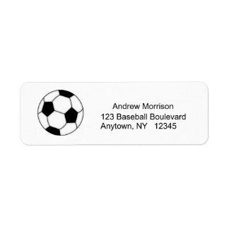 Soccer Address Label