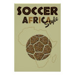 Soccer Africa Style Safari Poster Print for fans