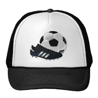 Soccer and shoes design trucker hats