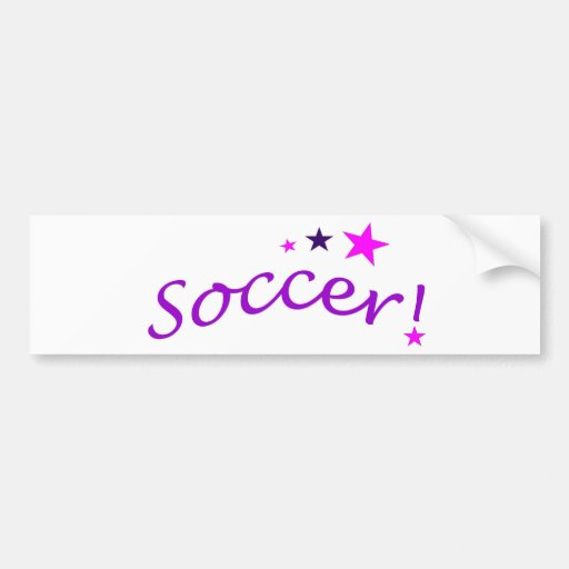 Soccer Arch with Stars Bumper Sticker
