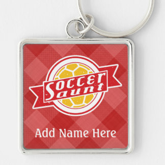 Soccer Aunt Customizable Keyring