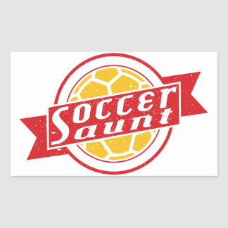 Soccer Aunt Rectangular Sticker