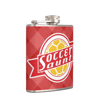 Soccer Aunt Stainless Steel Hip Flask