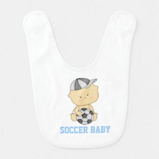 Soccer Baby Bib - Blue