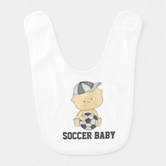 Soccer Baby Bib - Gray
