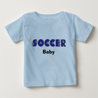 Soccer Baby in Blue Baby T-Shirt