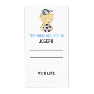 Soccer Baby Shower Bookplate