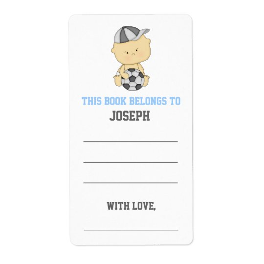 Soccer Baby Shower Bookplate