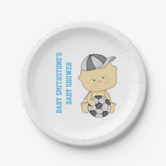 Soccer Baby Shower Personalized Paper Plates