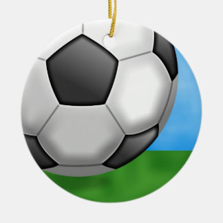 Soccer Background Christmas Ornament